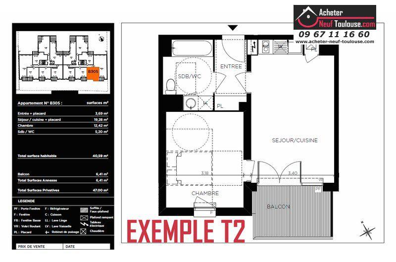 Appartements neufs toulouse t1 t2 t3 acheter neuf toulouse - Garage chateau de l hers toulouse ...