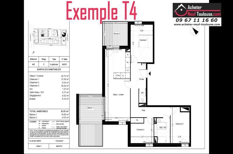 Appartements Neufs  U00e0 Balma   T2  T3  T4  T5