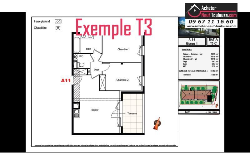 Appartements neufs aucamville t1 t2 t3 t4 acheter for Acheter programme neuf