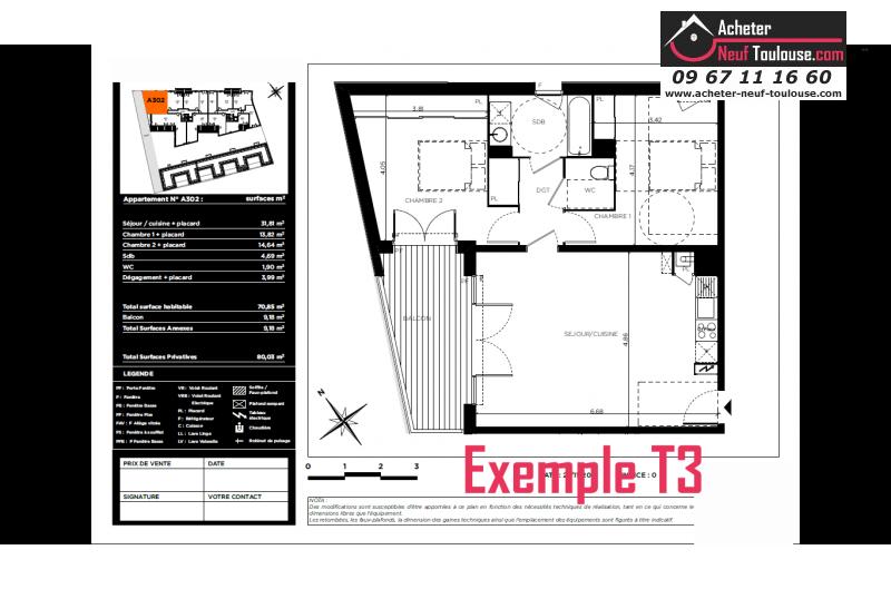 Appartements Neufs  U00e0 Toulouse Bonnefoy  T1  T2  T3 Et