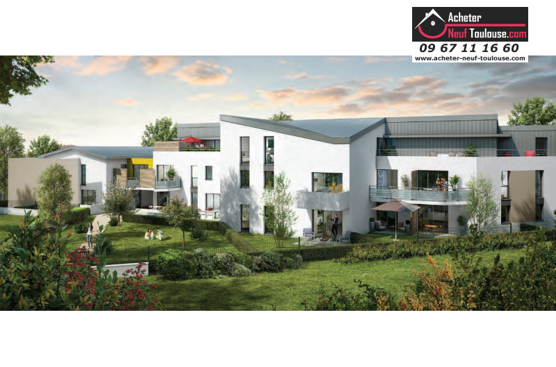 Appartements neufs colomiers t1 t2 t3 acheter neuf for Acheter programme neuf