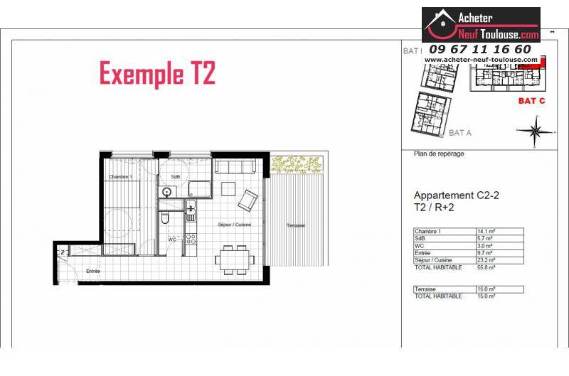 Appartements neufs toulouse lardenne t1 t2 t3 t4 t5 for Programme appartement