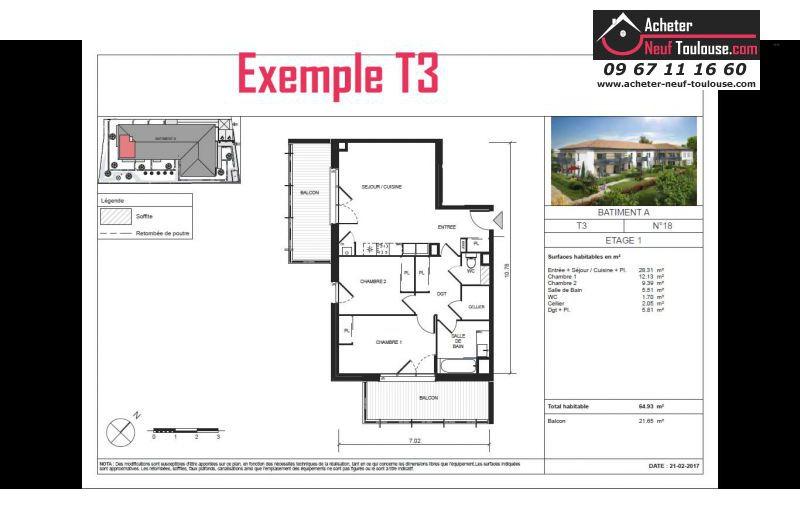 Appartements neufs escalquens t2 t3 t4 acheter for Acheter programme neuf