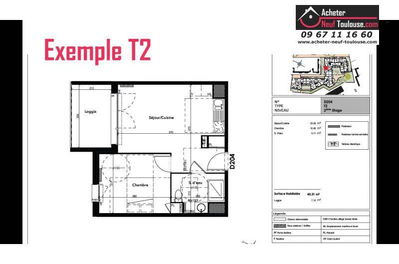 Appartements neufs toulouse jolimont t1 t2 t3 for Programme appartement