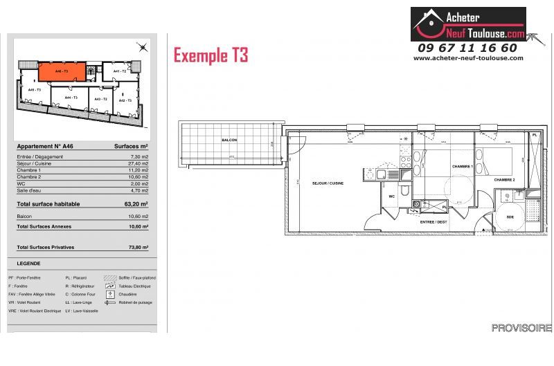 Appartements neufs à Toulouse Jolimont