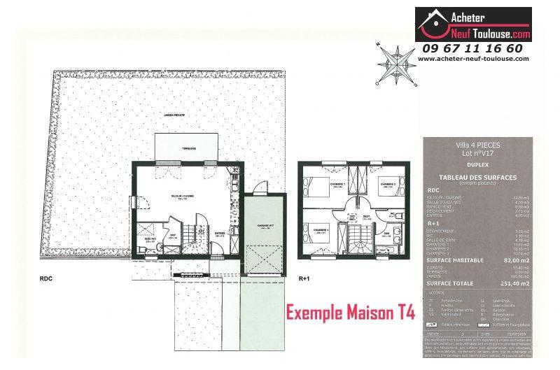 Maisons neuves à Cugnaux