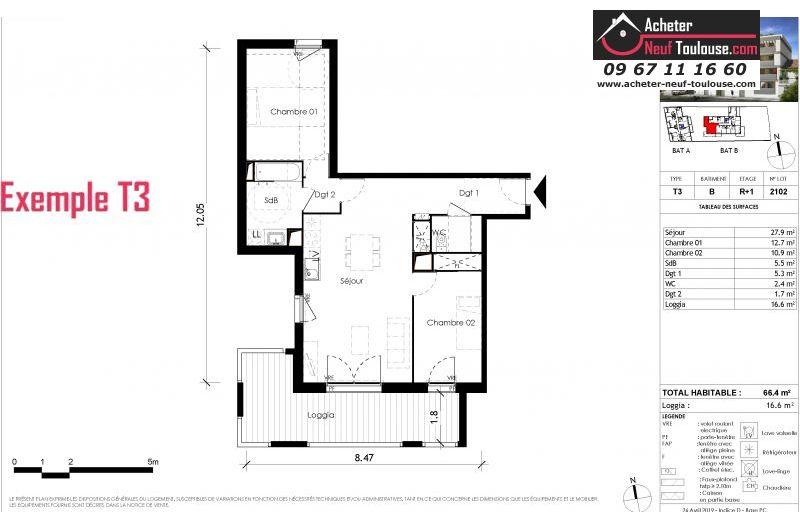 Appartements neufs à Toulouse Côte Pavée