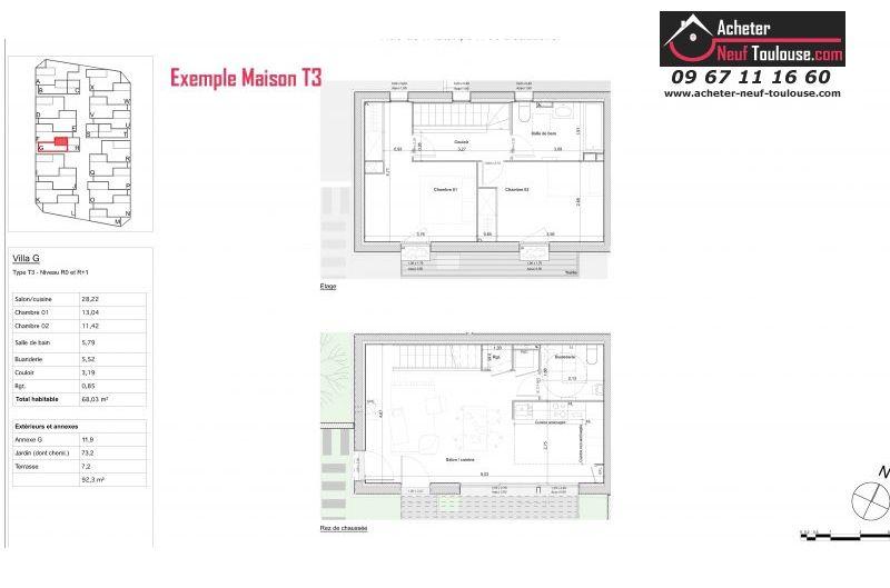 Maisons neuves à Blagnac Andromede