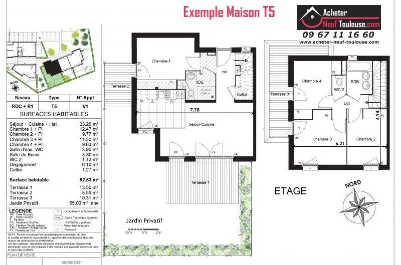 Maisons neuves à Toulouse Saint Agne