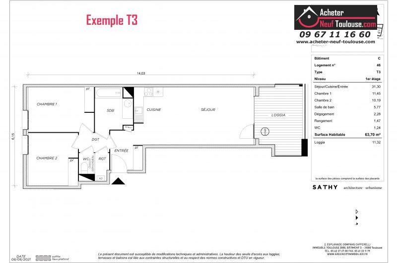 Appartements neufs à Toulouse Trois Cocus
